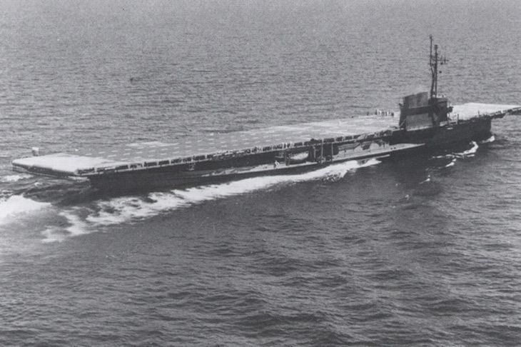 USS Sable, a U.S. Navy coal-fired, freshwater, side paddle-wheel aircraft carrier
